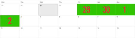 Calendario Black Friday 2013