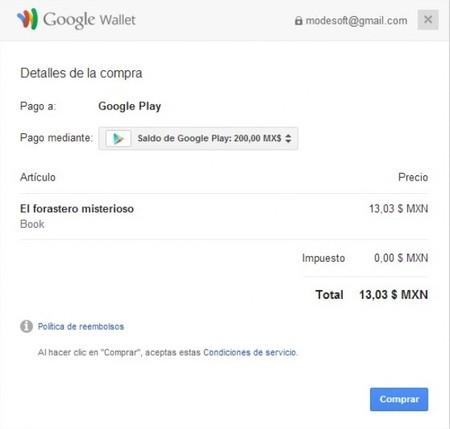 Saldo de Google Play