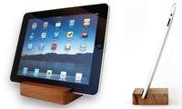 Soporte de madera maciza para el iPad