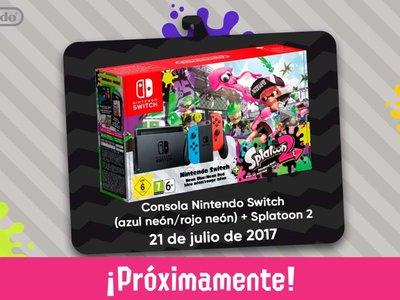 El primer bundle de Nintendo Switch saldrá en julio e incluirá Splatoon 2