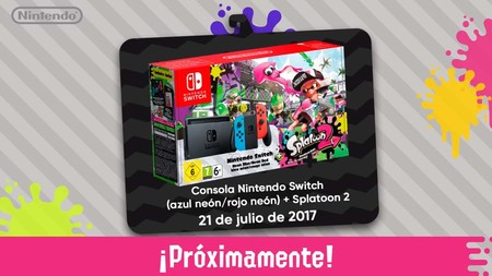 El primer bundle de Nintendo Switch saldrá en julio e incluirá Splatoon 2