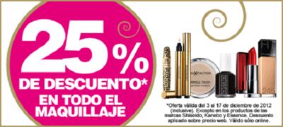 Últimos dos días con descuentos del 25% en grandes marcas de maquillaje en Bodybell