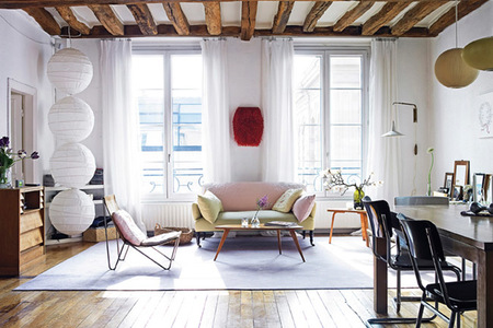 Apartamento parisino entre bohemio y moderno