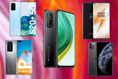 Comparativa del Xiaomi Mi 10T Pro frente al Samsung Galaxy S20+, OnePlus 8 Pro, Huawei P40 Pro y los mejores móviles del momento