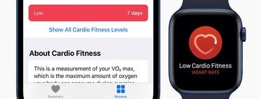 Notificaciones de capacidad aeróbica de watchOS 7.2: qué son y por qué es importante que lo sepas