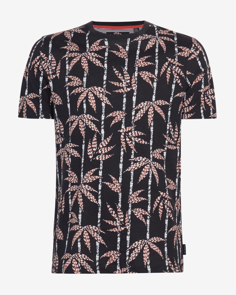 Camiseta modelo Bambook con palmeras