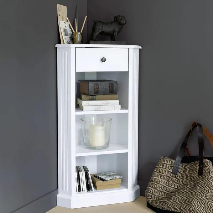 Mesa rinconera lacada blanca Authentic Style