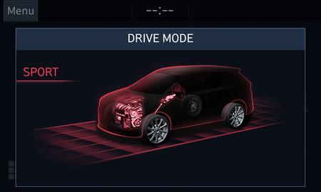 Hyundai Santa Fe Terrain Mode Selector Sport
