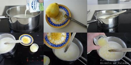 Paso a paso Panna cotta de limón