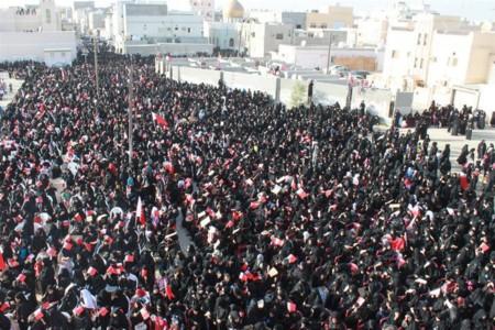 Women Taking Part In A Pro Democracy Sit In In Sitra