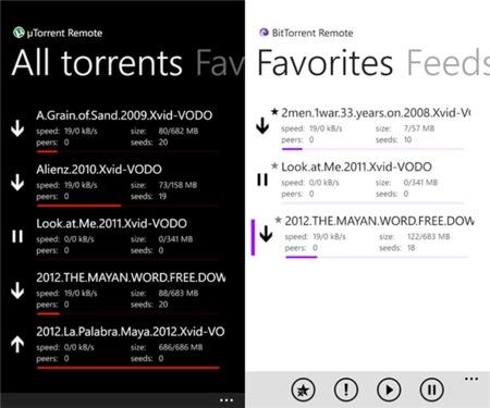 Gestionar un Bittorrent desde Windows Phone es posible