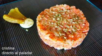 Tartar de salmon marinado