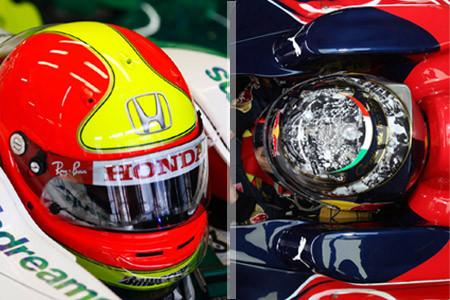 Un Gran Premio de despedidas y cascos especiales