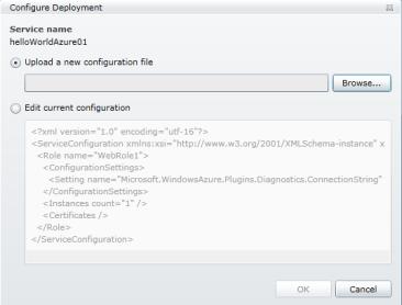 Windows Azure Configuracion