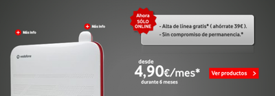 Vodafone prueba a eliminar la permanencia en su ADSL (sólo online)