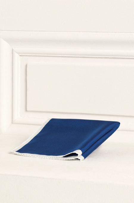 Pañuelo seda Massimo Dutti azul NYC