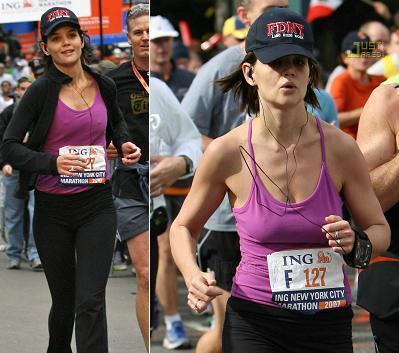 Katie Holmes en la maratón de Nueva York: glamour cero