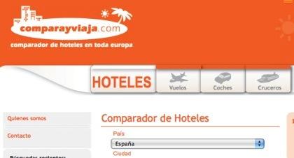 Comparayviaja.com, otro comparador de tarifas de hoteles