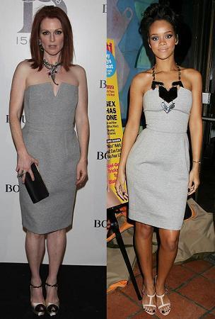 Vestido de Yves Saint Laurent: ¿Julianne Moore o Rihanna?