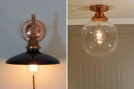 Lámparas vintage de cobre - 2