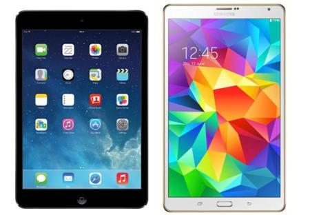 """iPad Mini Retina y Samsung Galaxy Tab S (8,4"""") cara a cara"""