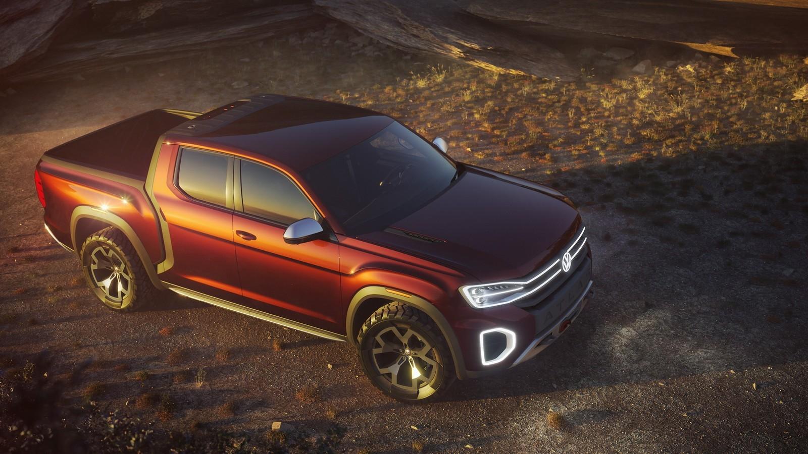 Foto de Volkswagen Atlas Tanoak Pickup concept (3/6)
