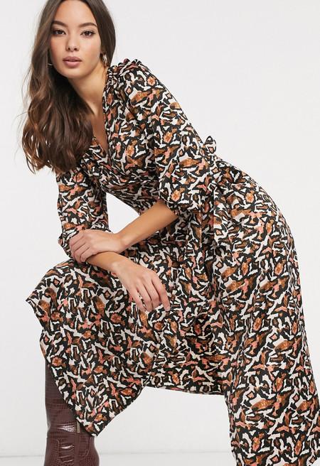 Vestido Asos 4Vestido midi con estampado animal abstracto de Vero Moda