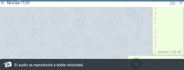 Cómo reproducir los mensajes de voz de Telegram a doble velocidad
