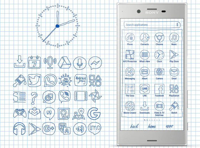 Hand Drawn icon pack