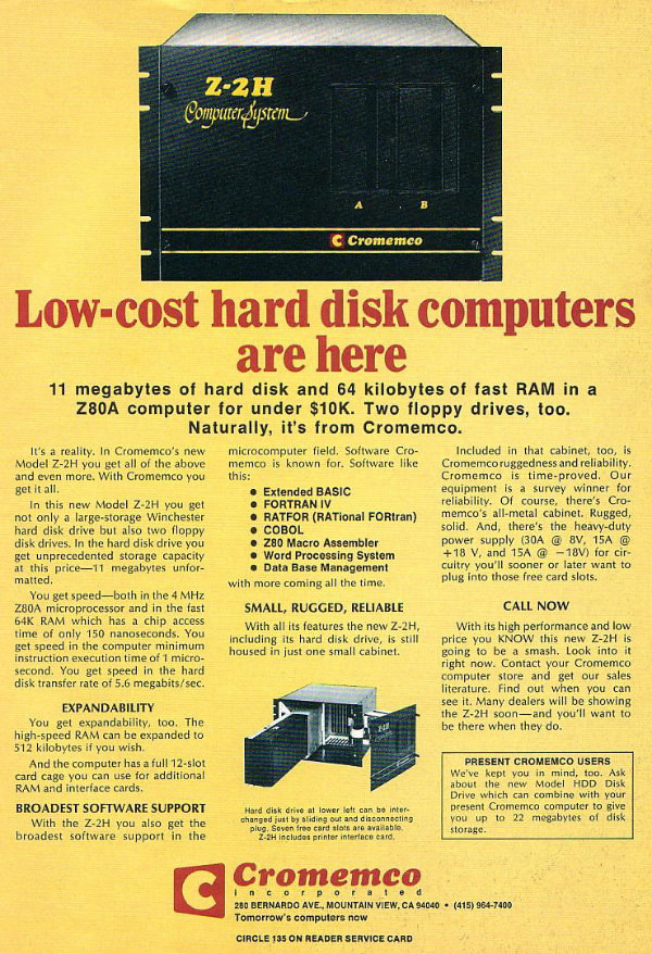 Low Cost Hard Disk Computer