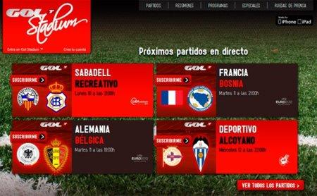 Gol Stadium, nuevo portal de emisión de encuentros de fútbol bajo suscripción
