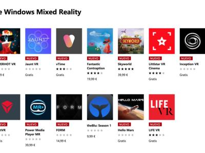 La Tienda de Windows estrena una nueva sección para agrupar todas las aplicaciones destinadas a la Realidad Mixta