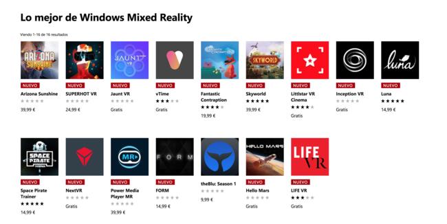 Tienda De Windows™ Para Realidad Mixta
