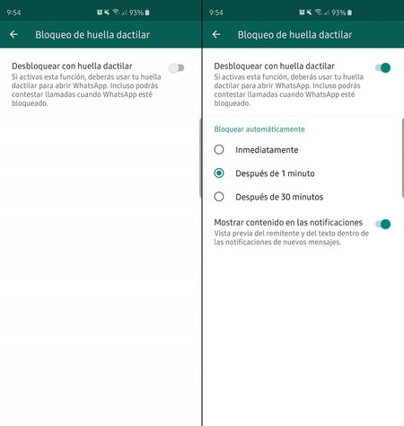 Whatsapp Android Bloqueo Huella Beta