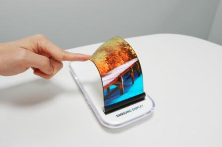 ¿Será ésta la pantalla flexible del rumoreado Galaxy X de Samsung?