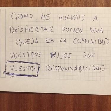 """""""La niña no tiene interruptor para detener su llanto"""": la genial respuesta de un padre a las notas de protesta de su vecino"""
