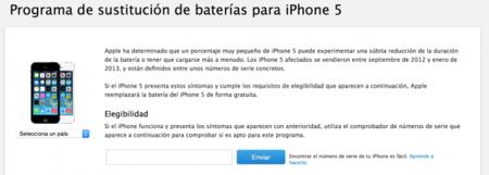 Apple comienza el programa de remplazo de baterías del iPhone 5 en México