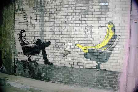 Otro graffiti de Banksy