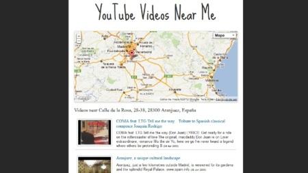 Descubre vídeos de YouTube geolocalizados alrededor de un punto concreto