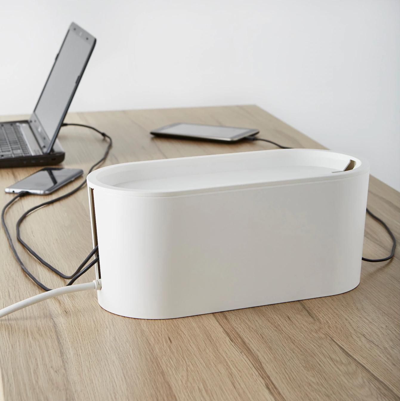 ROMMA, Organizador de cables + tapa en blanco