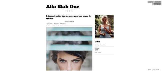 alfa slab one tumblr theme