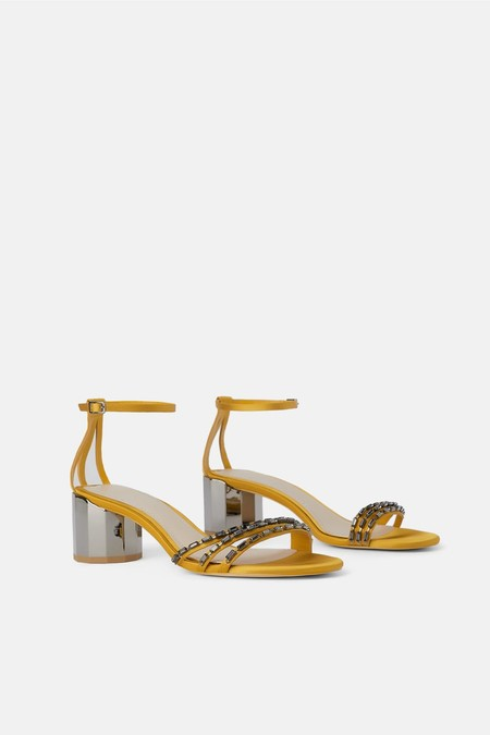 zapato tacon geométrico