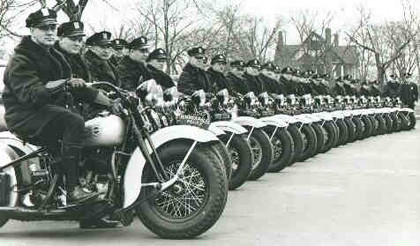 Harley Davidson Flathead UH policía