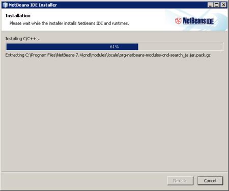 NetBeans - proceso de instalación
