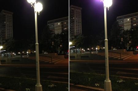 iPhone 5 lens flare comparación