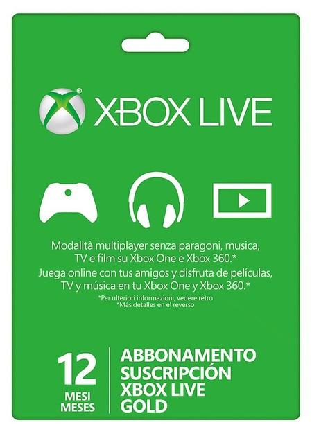 Suscripción Xbox Live Gold de 12 meses por 36,29 euros con este cupón