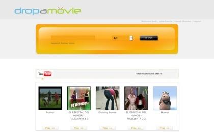 DropaMovie, buscador de vídeos en Internet