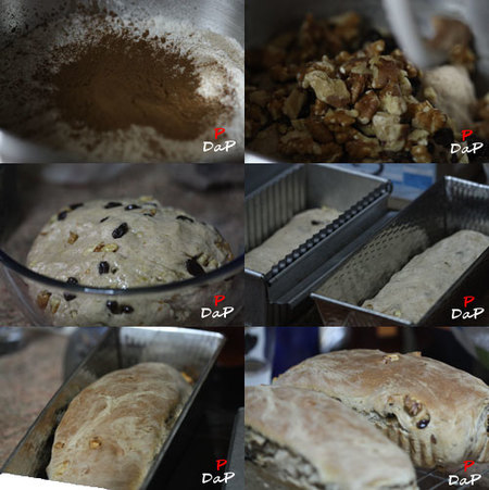 Pasos para hacer pan de canela con nueces y pasas