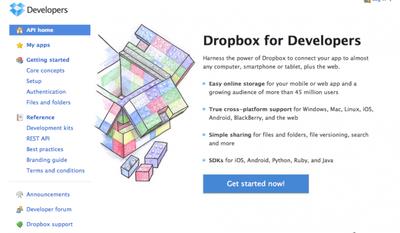 Dropbox lanza su API para crear aplicaciones sobre su servicio de almacenamiento sincronizado