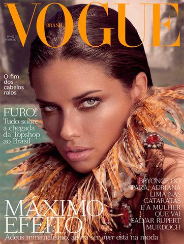 Adriana Lima en Vogue